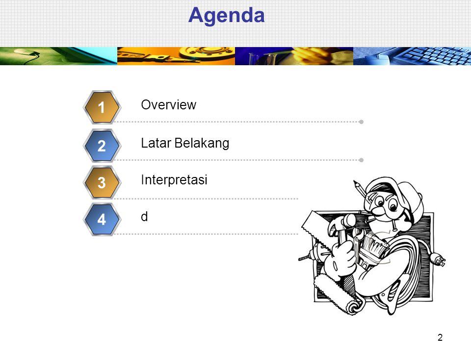 Agenda 1 2 3 4 Overview Latar Belakang Interpretasi d