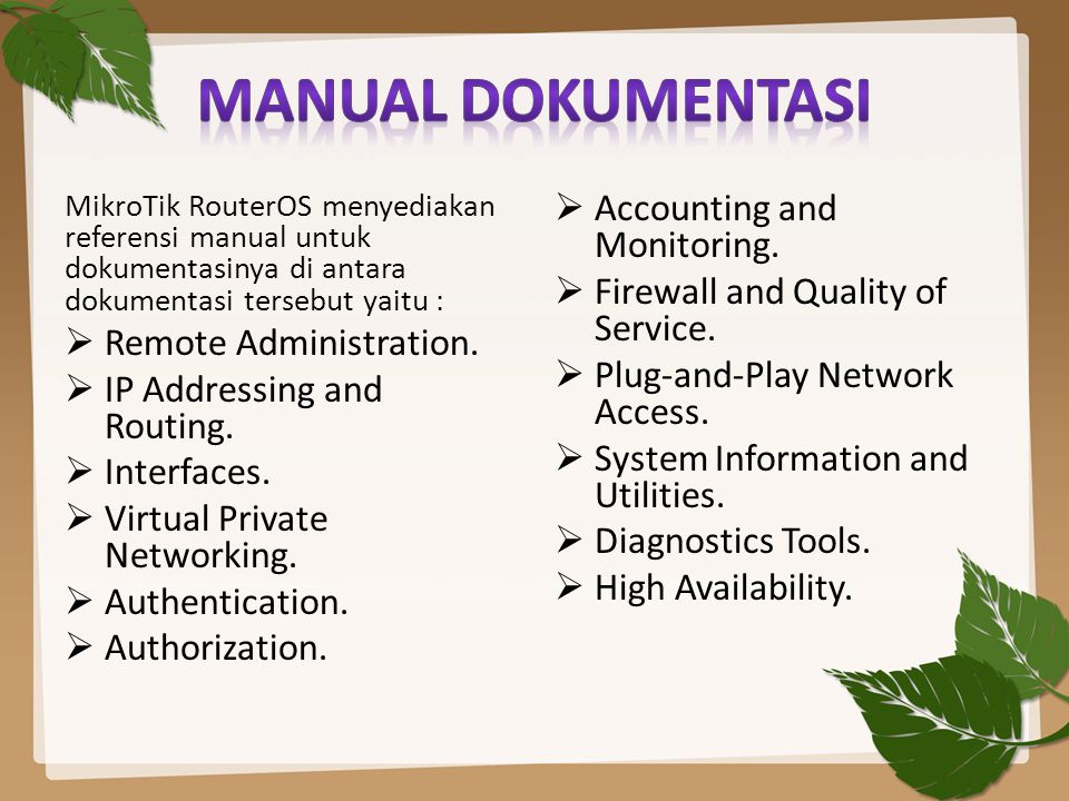 Manual dokumentasi Accounting and Monitoring.