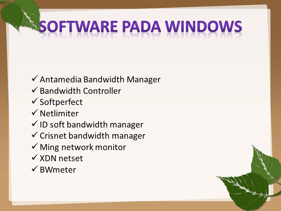 SOFTWARE pada windows Antamedia Bandwidth Manager Bandwidth Controller