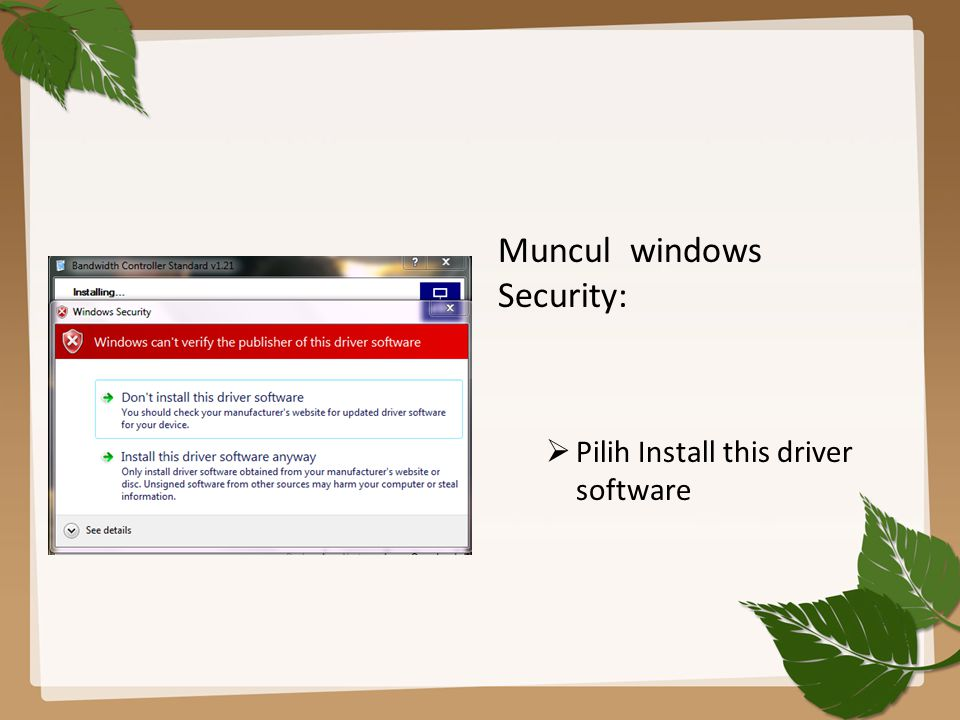 Muncul windows Security: