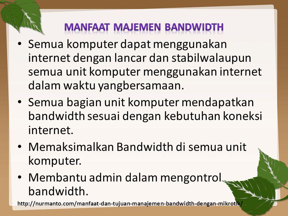 Manfaat majemen bandwidth