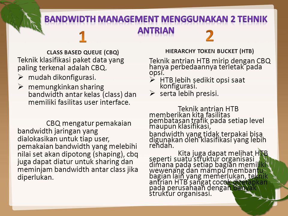 BANDWIDTH MANAGEMENT MENGGUNAKAN 2 TEHNIK ANTRIAN