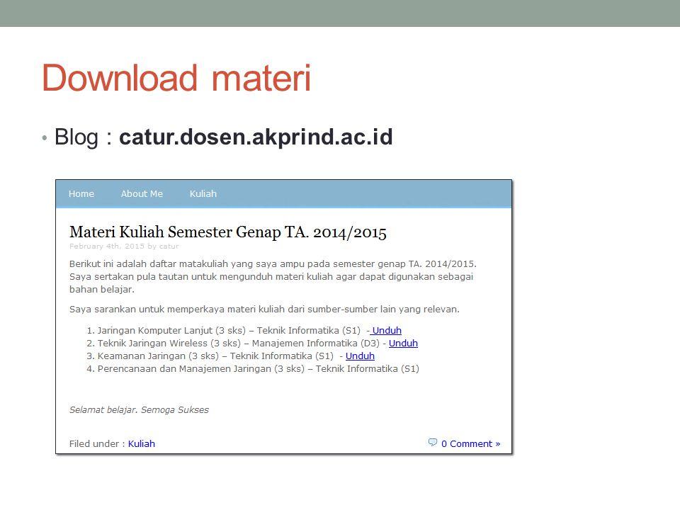 Download materi Blog : catur.dosen.akprind.ac.id