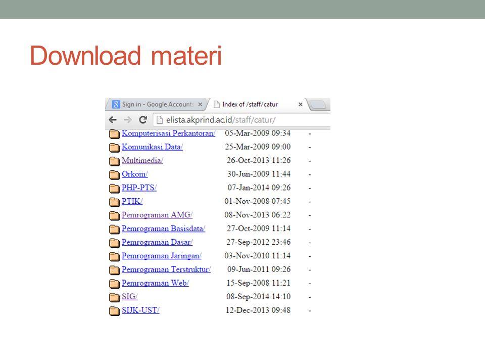 Download materi