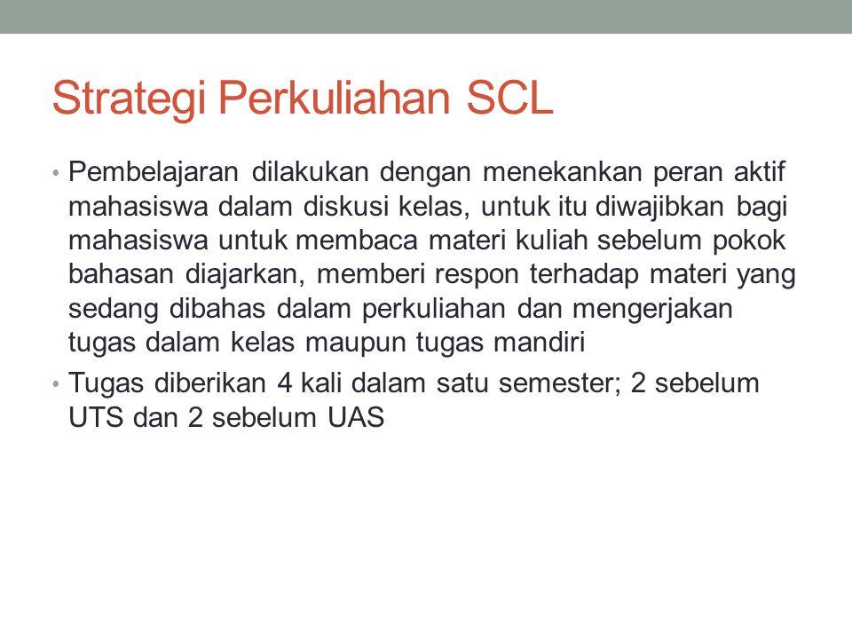 Strategi Perkuliahan SCL