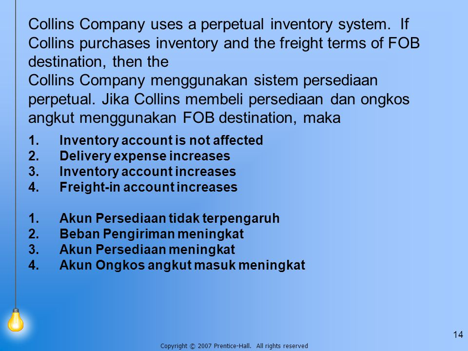 Collins Company uses a perpetual inventory system