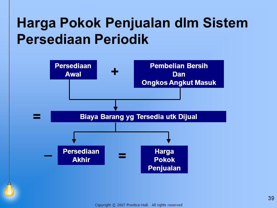 Harga Pokok Penjualan dlm Sistem Persediaan Periodik