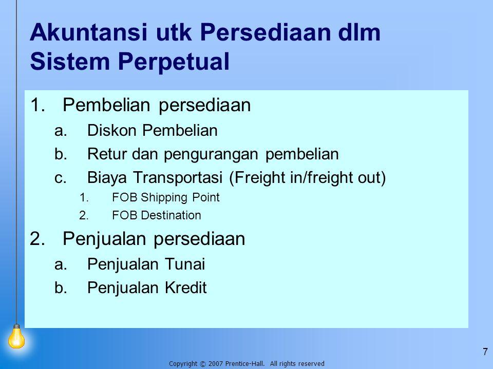 Akuntansi utk Persediaan dlm Sistem Perpetual