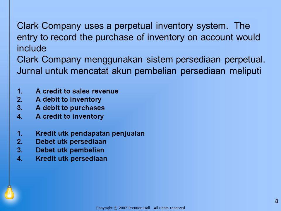 Clark Company uses a perpetual inventory system