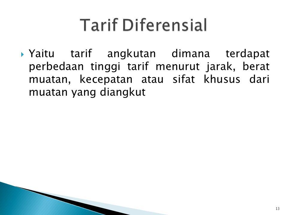 Tarif Diferensial