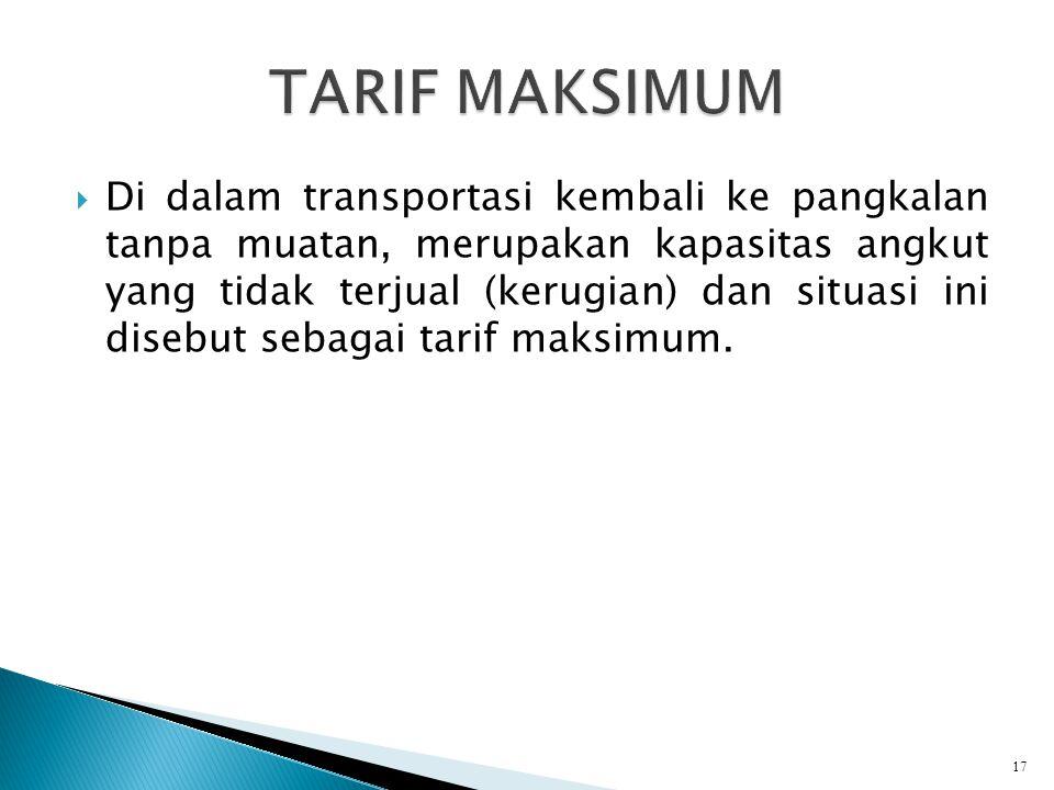 TARIF MAKSIMUM