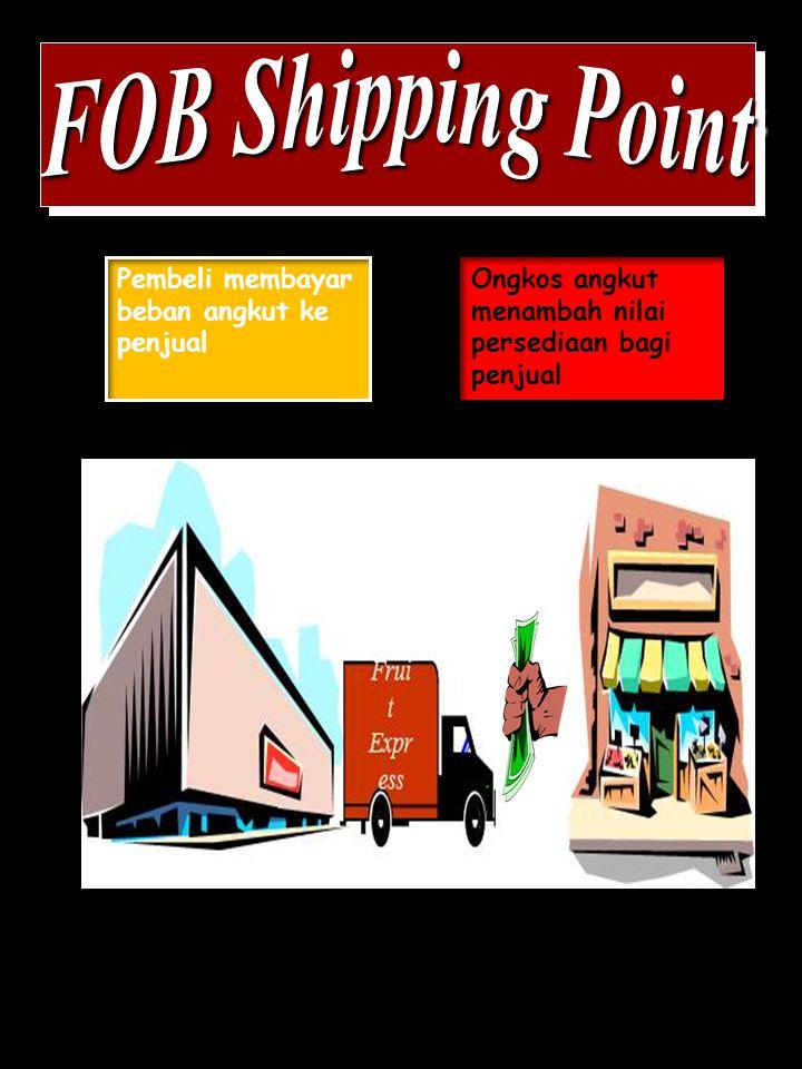 FOB Shipping Point Pembeli membayar beban angkut ke penjual