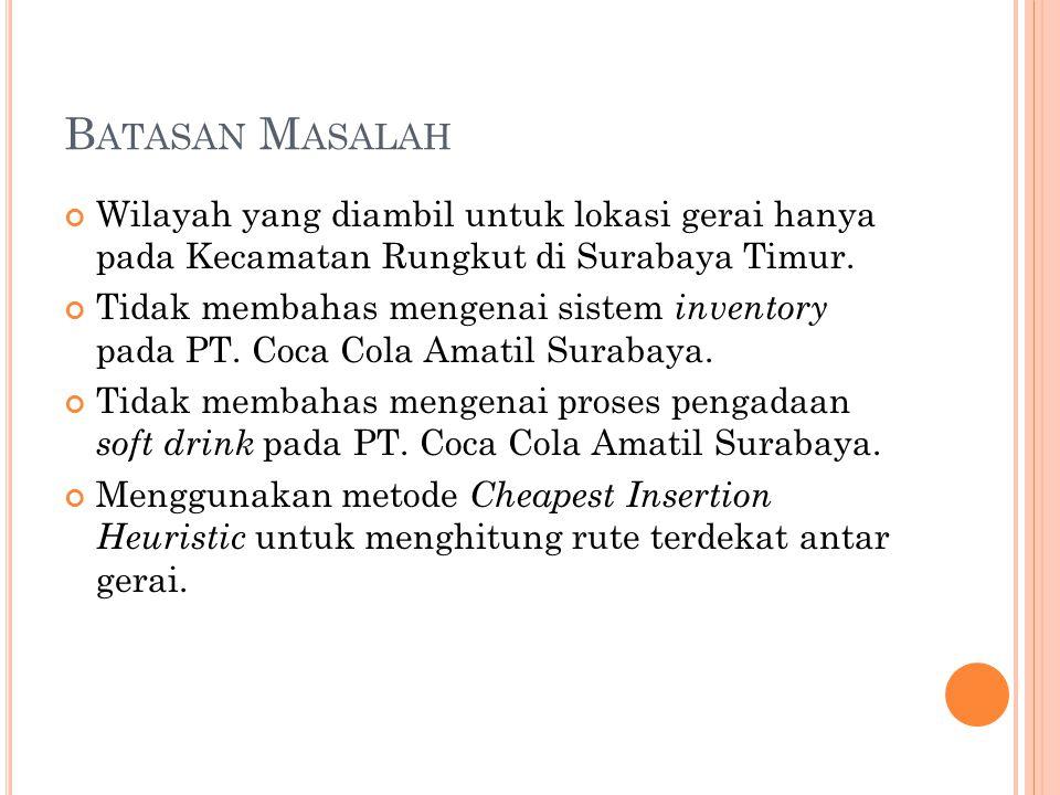 Batasan Masalah Wilayah yang diambil untuk lokasi gerai hanya pada Kecamatan Rungkut di Surabaya Timur.