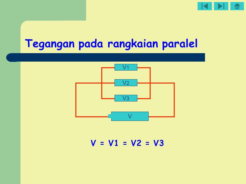 Tegangan pada rangkaian paralel