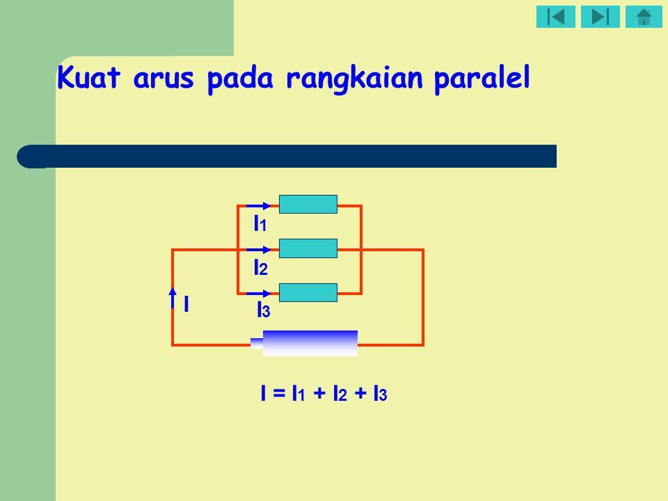 Kuat arus pada rangkaian paralel