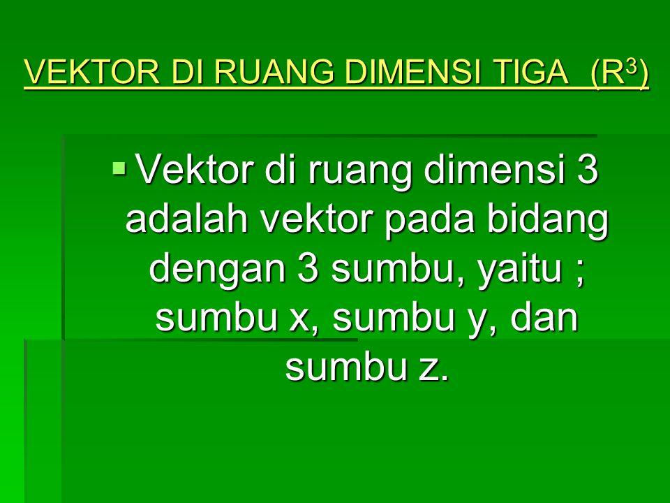 VEKTOR DI RUANG DIMENSI TIGA (R3)