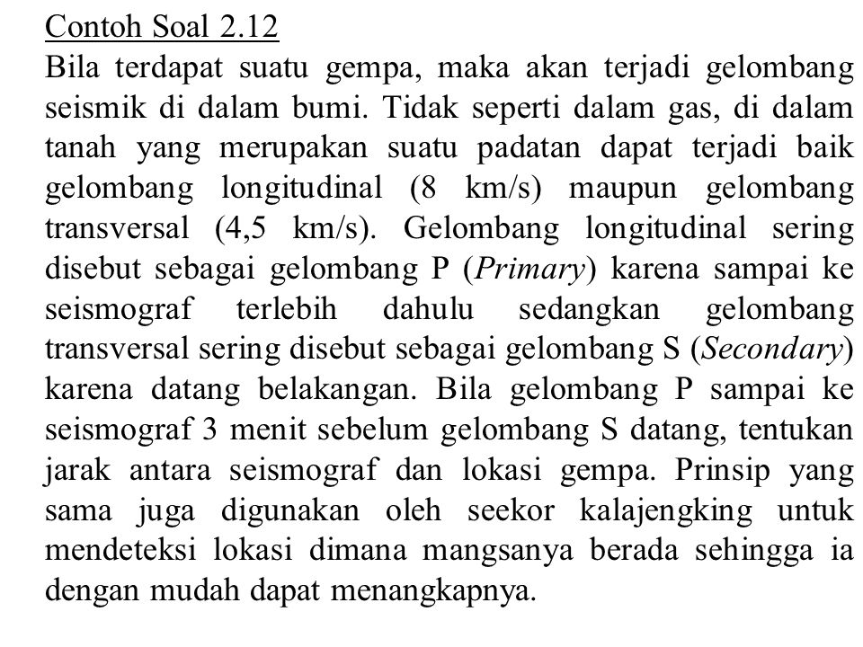 Contoh Soal 2.12
