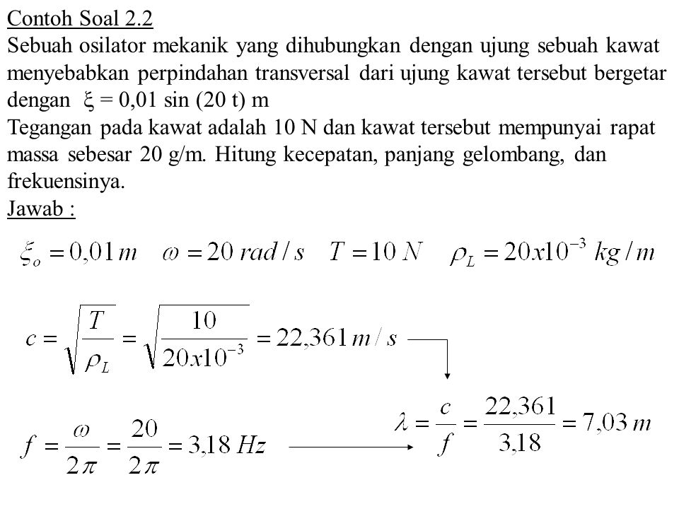 Contoh Soal 2.2
