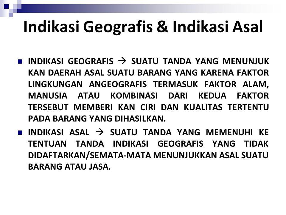 Indikasi Geografis & Indikasi Asal