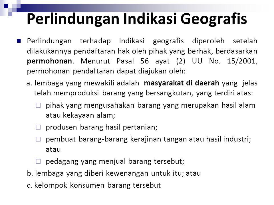 Perlindungan Indikasi Geografis