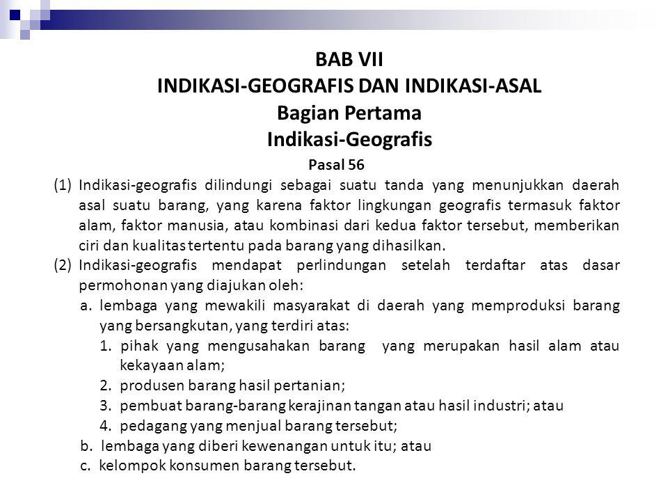 INDIKASI-GEOGRAFIS DAN INDIKASI-ASAL