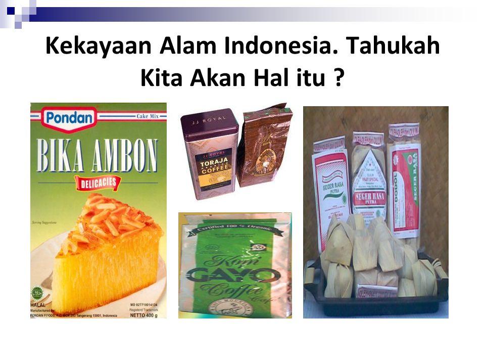 Kekayaan Alam Indonesia. Tahukah Kita Akan Hal itu
