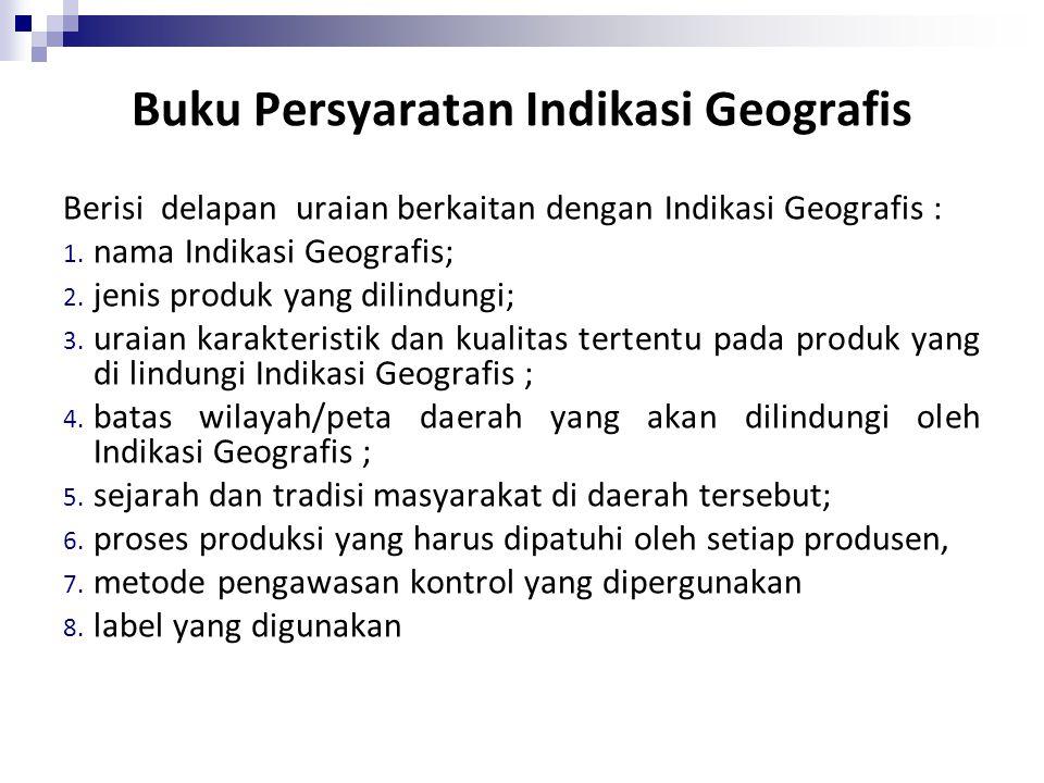 Buku Persyaratan Indikasi Geografis