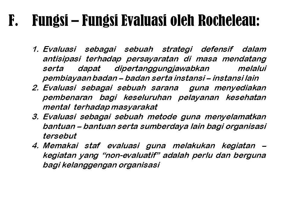 Fungsi – Fungsi Evaluasi oleh Rocheleau: