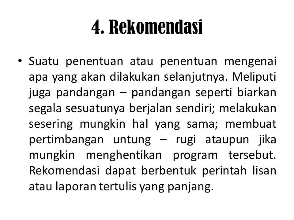 4. Rekomendasi
