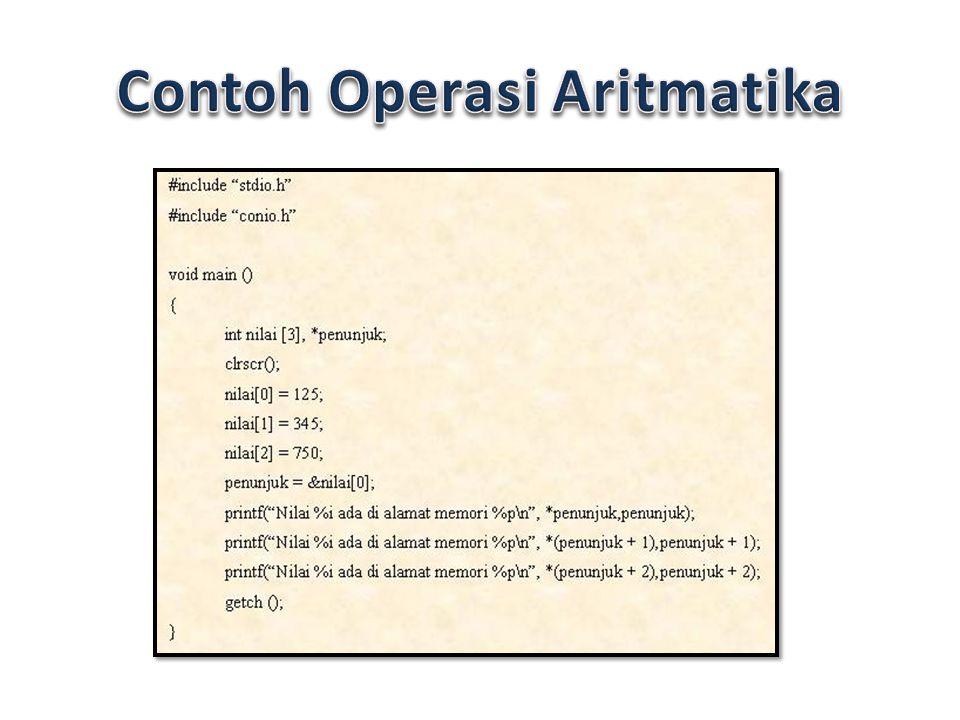 Contoh Operasi Aritmatika