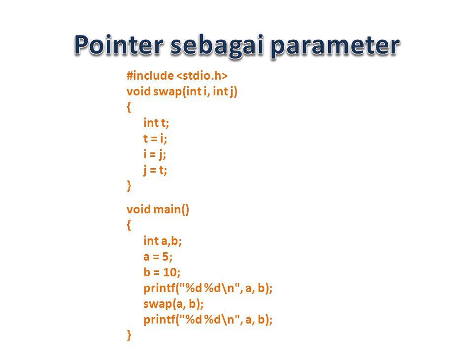 Pointer sebagai parameter