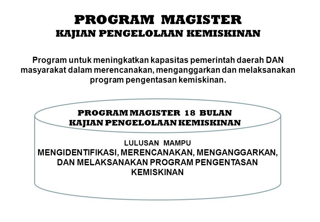 PROGRAM MAGISTER KAJIAN PENGELOLAAN KEMISKINAN