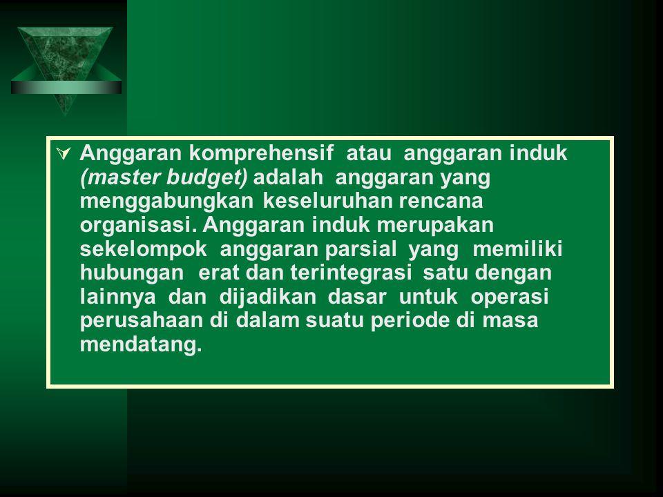 Anggaran komprehensif atau anggaran induk (master budget) adalah anggaran yang menggabungkan keseluruhan rencana organisasi.