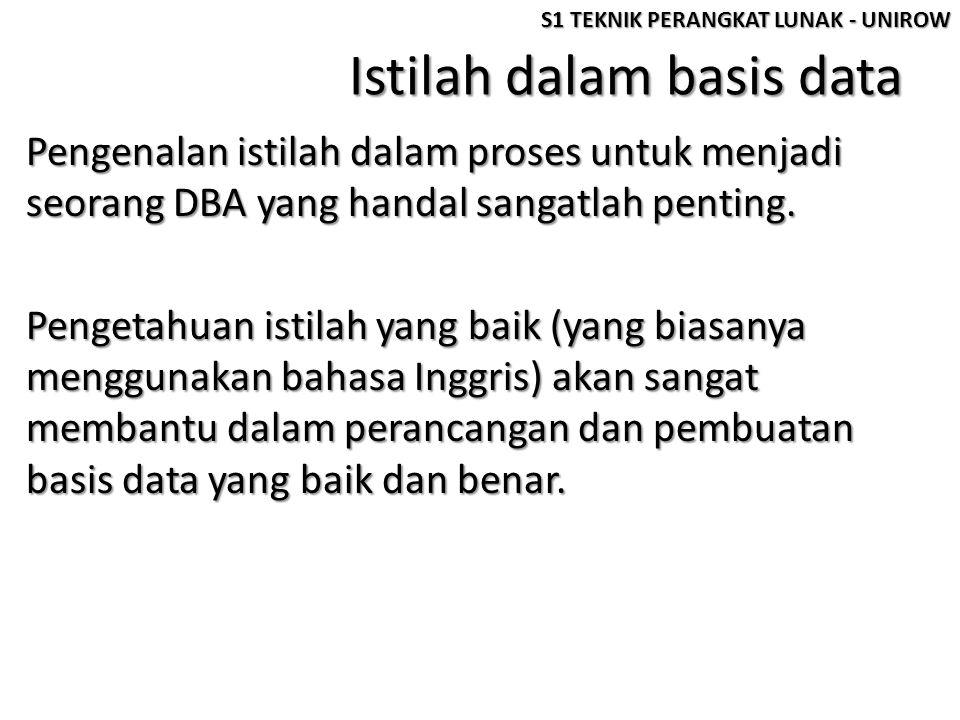 Istilah dalam basis data