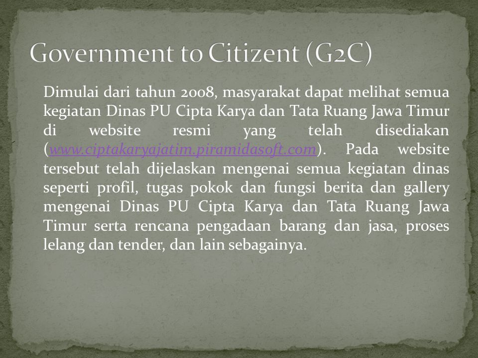Government to Citizent (G2C)
