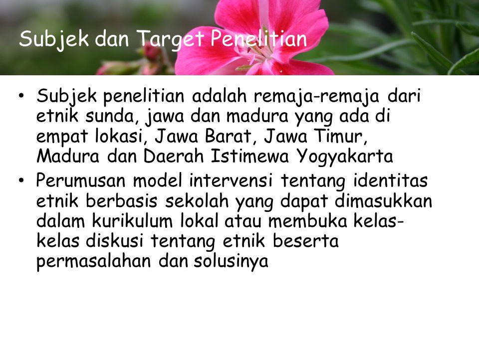 Subjek dan Target Penelitian
