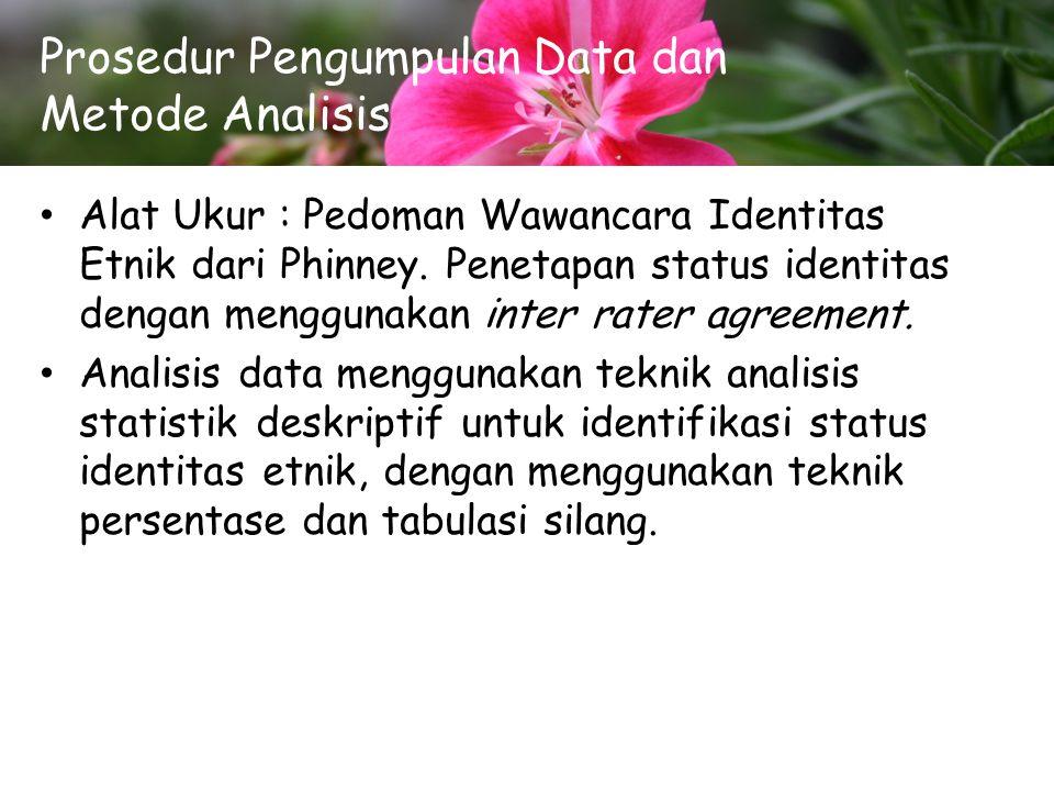 Prosedur Pengumpulan Data dan Metode Analisis