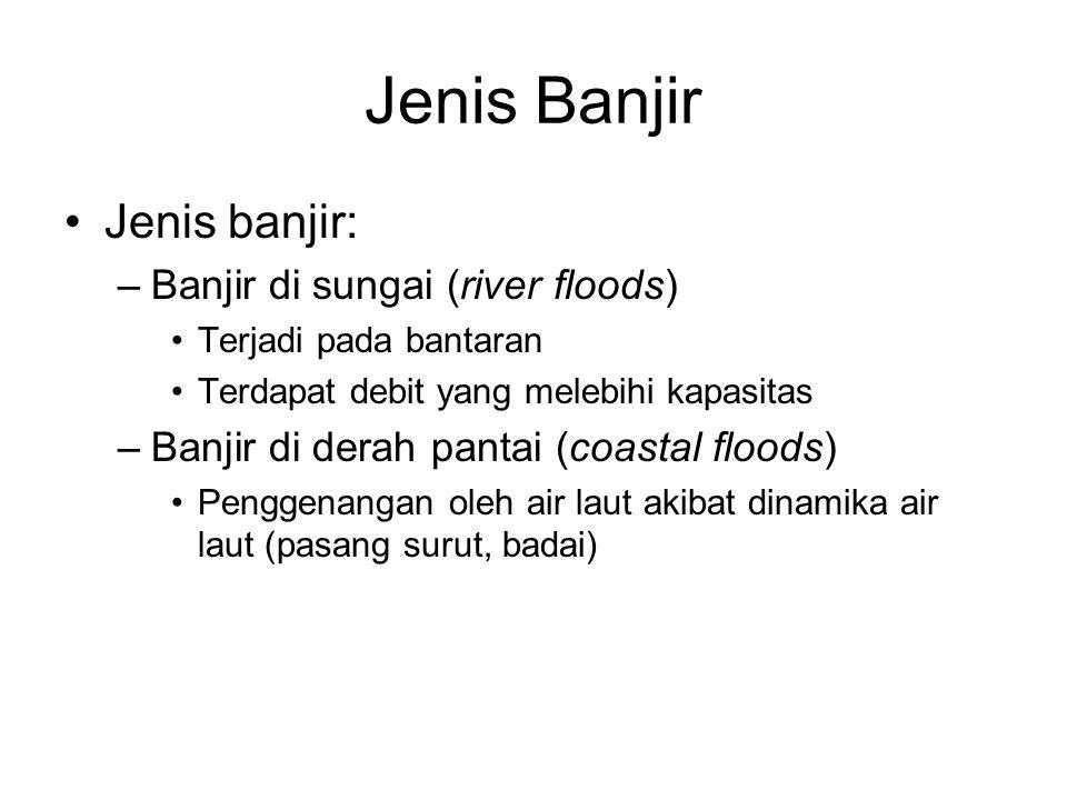 Jenis Banjir Jenis banjir: Banjir di sungai (river floods)