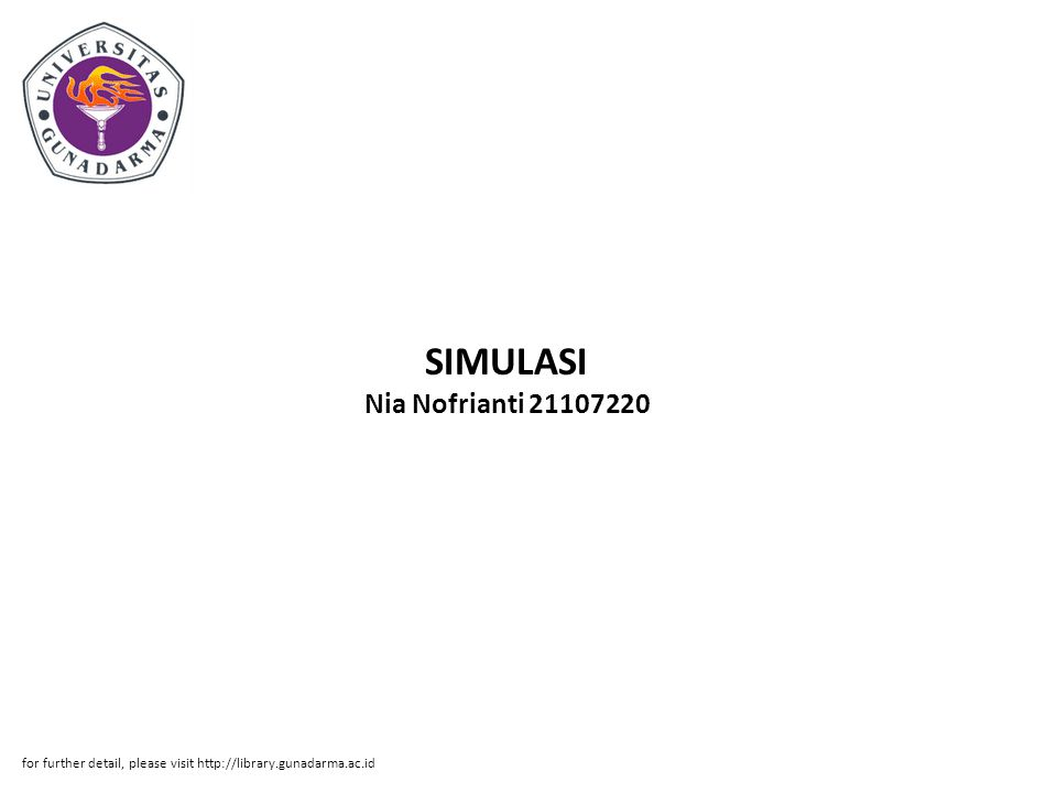 SIMULASI Nia Nofrianti 21107220