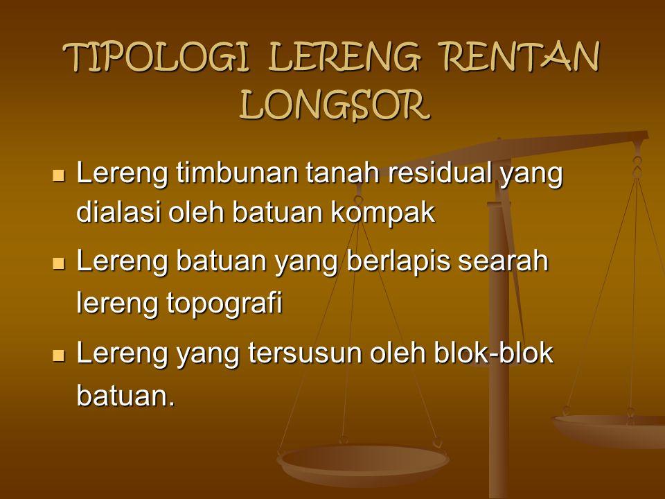TIPOLOGI LERENG RENTAN LONGSOR