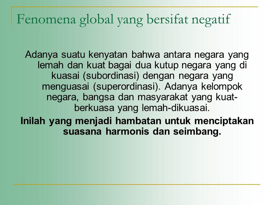 Fenomena global yang bersifat negatif