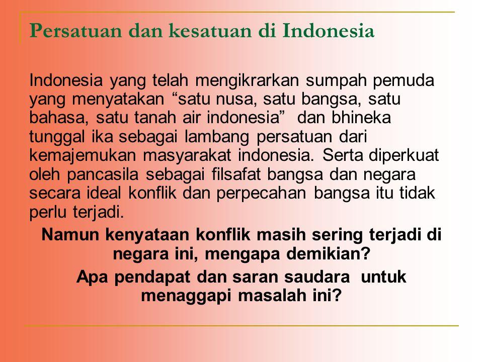 Persatuan dan kesatuan di Indonesia