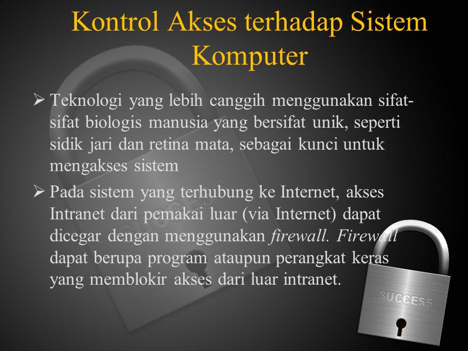 Kontrol Akses terhadap Sistem Komputer