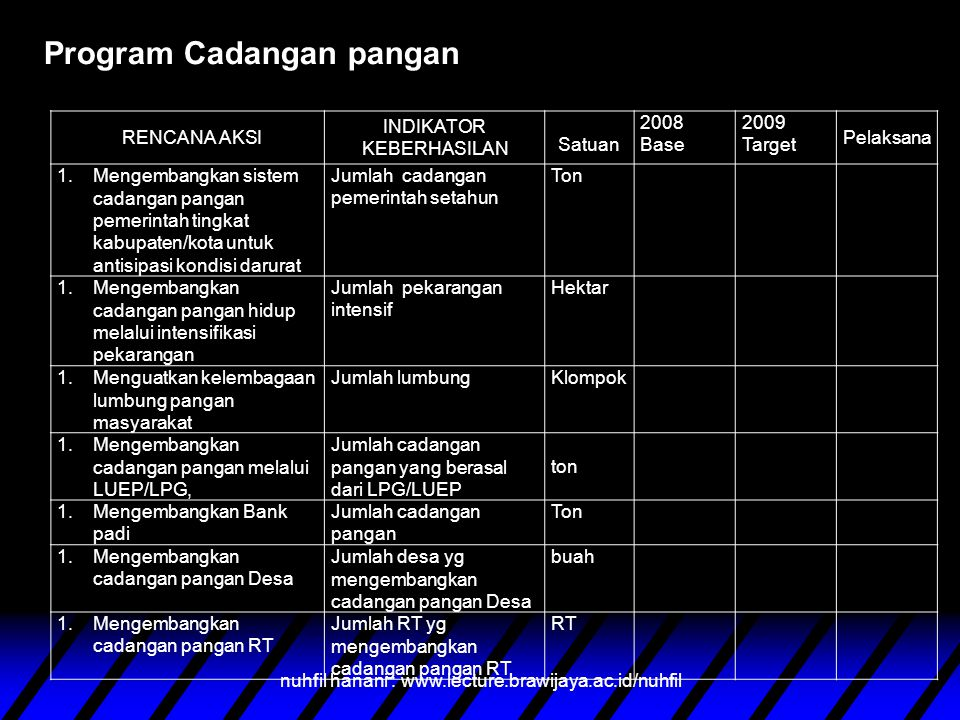 Program Cadangan pangan