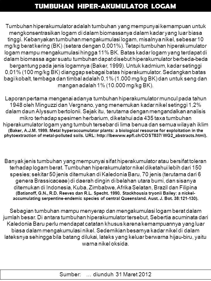 TUMBUHAN HIPER-AKUMULATOR LOGAM