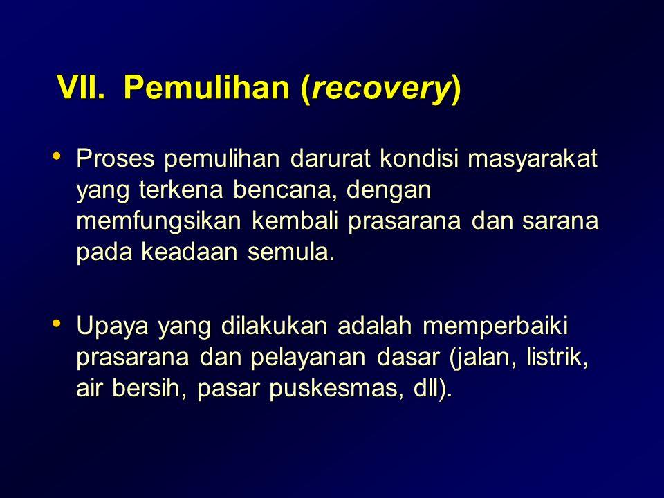 VII. Pemulihan (recovery)