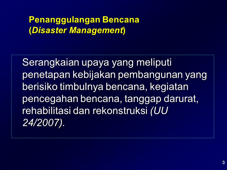Penanggulangan Bencana (Disaster Management)