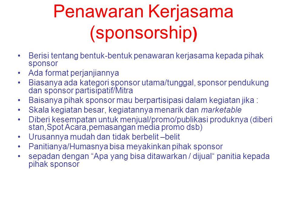 Penawaran Kerjasama (sponsorship)