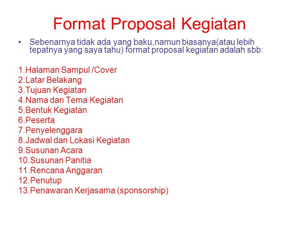 Format Proposal Kegiatan