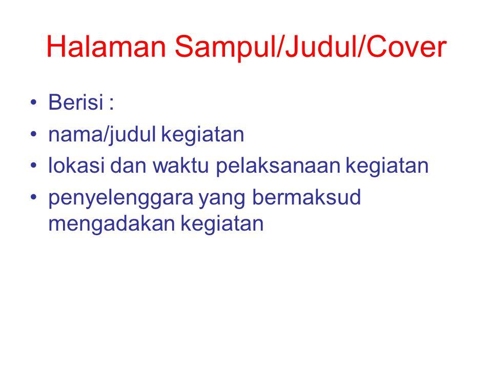 Halaman Sampul/Judul/Cover